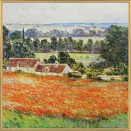 Poster Reproduction Encadré: Claude Monet - Champ De Coquelicots ...