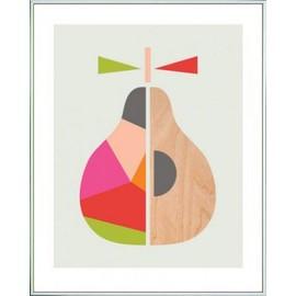 reproduction encadré: cuisine - geometric pear, little design haus ... - Cadre Cuisine Design