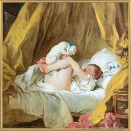 Poster Reproduction Encadre Jean Honore Fragonard La Gimblette