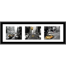 poster reproduction encadr new york taxis triptyque. Black Bedroom Furniture Sets. Home Design Ideas