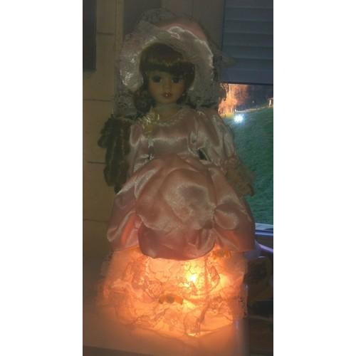Chevet De Poupée En Porcelaine Lampe KF1culTJ35