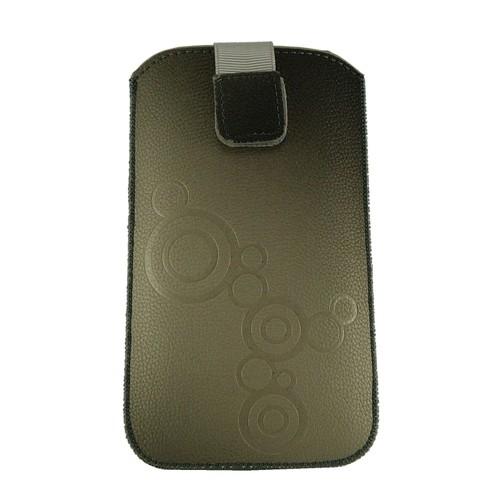 Pour apple iphone 7 housse etui aspect cuir gris noir for Housse iphone 7 cuir