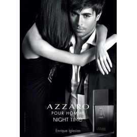 pour homme night time de azzaro publicit de parfum avec enrique iglesis azz15. Black Bedroom Furniture Sets. Home Design Ideas
