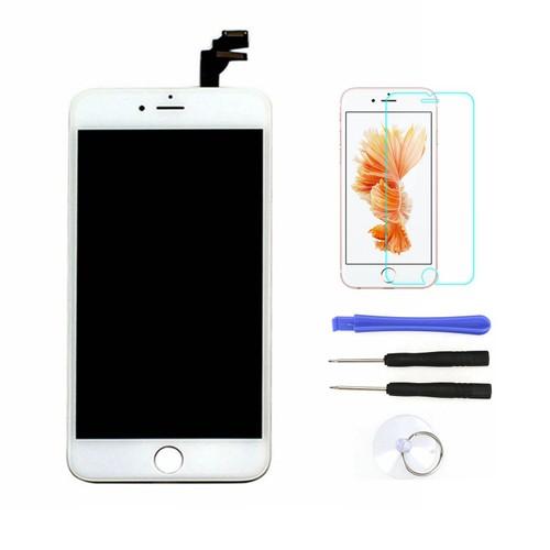 pour iphone 6 plus blanc cran affichage bloc complet vitre tactile lcd set outils film en. Black Bedroom Furniture Sets. Home Design Ideas
