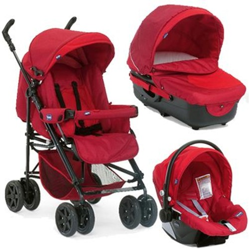 poussette trio chicco rouge
