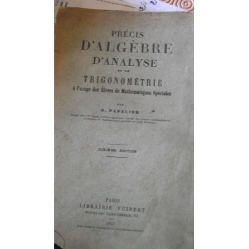 Algebre Et Trigonometrie, Classes De 1re C Et Moderne