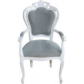 sident casa padrino baroque dã®ner avec accoudoirs gris-bleu ... - Chaise De Luxe Design