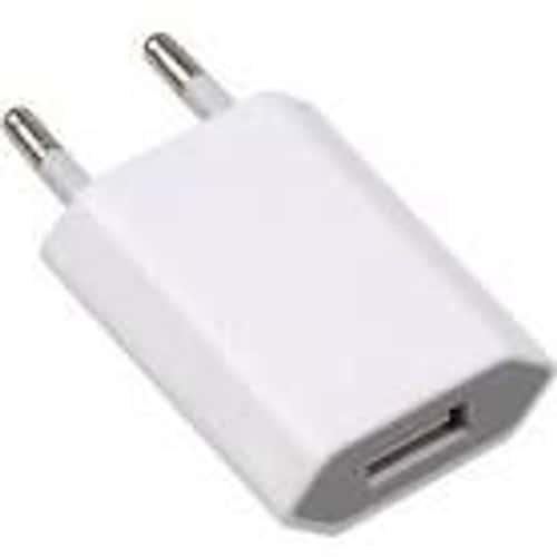 prise chargeur adaptateur secteur usb blanc pour iphone 3 4 5 ipad ipod. Black Bedroom Furniture Sets. Home Design Ideas