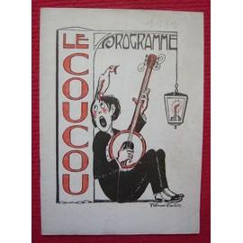 Programme Du Cabaret Du Rire Le Coucou (1939) de collectif