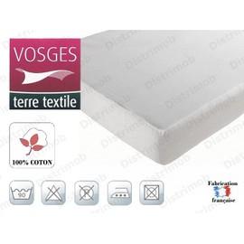 protege matelas drap housse brice 90x190 100 coton 195g m. Black Bedroom Furniture Sets. Home Design Ideas