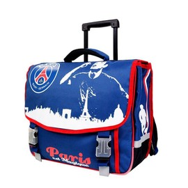 psg cartable roulettes trolley sac dos scolaire enfant cole gar on paris saint germain. Black Bedroom Furniture Sets. Home Design Ideas