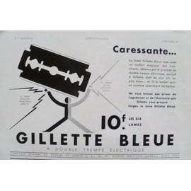publicit ancienne f vrier 1937 pour la lame de rasoir. Black Bedroom Furniture Sets. Home Design Ideas