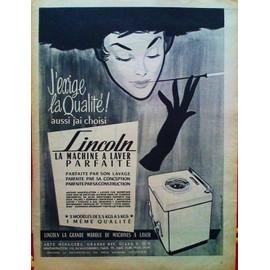 publicite ancienne fevrier 1956 pour les machines a laver lincoln. Black Bedroom Furniture Sets. Home Design Ideas