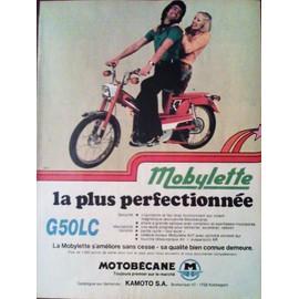 publicit ancienne issue de la revue spirou de mai 1974 pour la mobylette motobecane g50lc. Black Bedroom Furniture Sets. Home Design Ideas