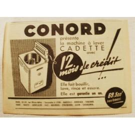 publicit ancienne janvier 1954 pour la machine laver cadette de conord 32 34 rue olivier. Black Bedroom Furniture Sets. Home Design Ideas