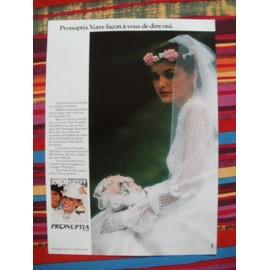 Publicit� Ancienne (Mai 1980) Pour Les Tenues De Mari�es