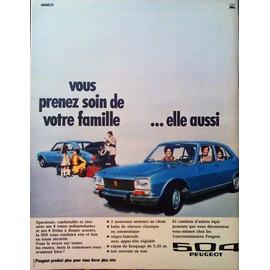 publicit ancienne novembre 1970 pour la 504 peugeot et ses nouveaut s. Black Bedroom Furniture Sets. Home Design Ideas