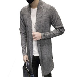 pull homme sweat cardigan long style gris m0773 achat et vente. Black Bedroom Furniture Sets. Home Design Ideas