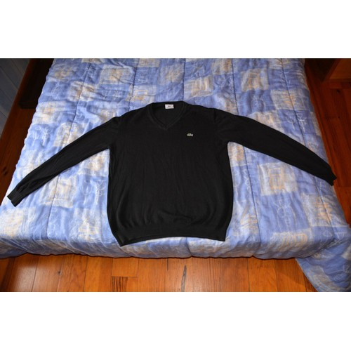 Neuf Comme V Lacoste Et M Homme Achat Pull Vente Noir Taille Col 80qxwAB