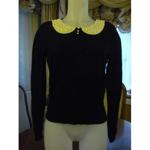 pull miss selfridge marque anglaise coton 40 noir achat et vente. Black Bedroom Furniture Sets. Home Design Ideas