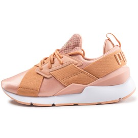best loved f4b8a 91ae0 Puma Muse Satin Strap Corail Baskets Femme