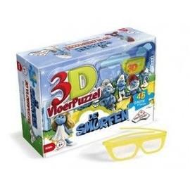Puzzle G�ant 3d Schtroumpfs Avec Lunette 3d 46 Grandes Pcs