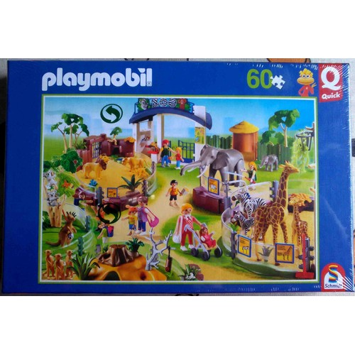 playmobil puzzle animaux du zoo 60 pi ces pocket quick. Black Bedroom Furniture Sets. Home Design Ideas