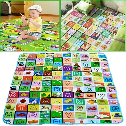 Puzzle tapis pais pour b b imprim lettres couverture mat de rampement 200 x 180 x 0 5 cm - Tapis epais bebe ...