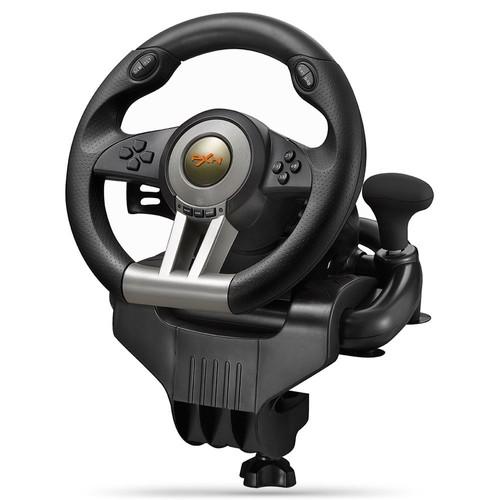 pxn v3ii usb game volant avec p dale dual motor vibration noir. Black Bedroom Furniture Sets. Home Design Ideas