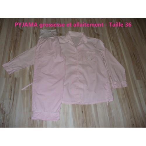efa909c76544c Pyjama De Grossesse - Rose - Taille 36 - Achat et vente - Rakuten