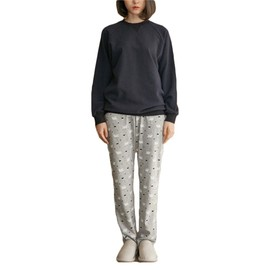419396e25f426 Pyjama Femme Ensemble De Vetement 2 Piece Coton T-Shirt Pantalon Imprime