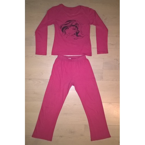 pyjama fille 2 pi ces coton 8 ans fuchsia achat et vente. Black Bedroom Furniture Sets. Home Design Ideas