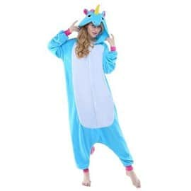 pyjama licorne pyjama licorne adulte kigurumi combinaison animaux unicorn. Black Bedroom Furniture Sets. Home Design Ideas