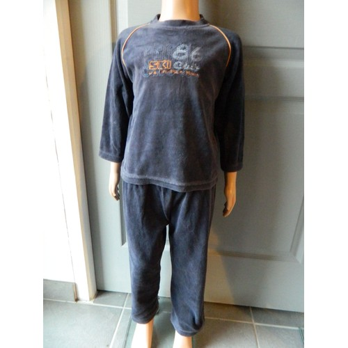 pyjama tex coton 3 ans bleu marine achat et vente priceminister rakuten. Black Bedroom Furniture Sets. Home Design Ideas