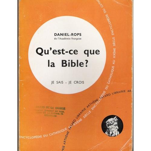 Qu 39 est ce que la bible de daniel rops achat vente neuf for Qu est ce que la lasure