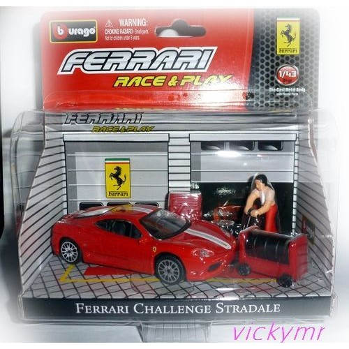 race and play ferrari challenge stradale et accessoires echelle 1 43. Black Bedroom Furniture Sets. Home Design Ideas