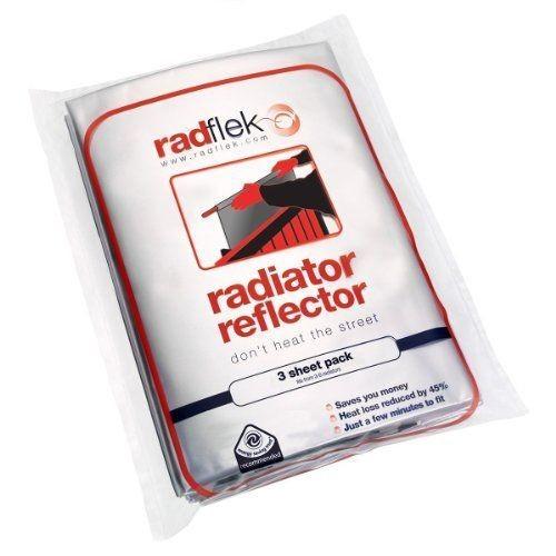 radflek r flecteur de chaleur avec 3 feuilles radstik 2 bandes adh sives radstik pour. Black Bedroom Furniture Sets. Home Design Ideas