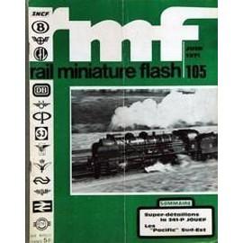 Rail Miniature Flash N� 105 Du 01/06/1971 - Super-Detaillons La 241 P Jouef - Les Pacific Sud-Est