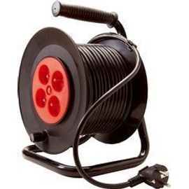 Rallonge enrouleur electrique 25m 4 prises pas cher priceminister rakuten - Rallonge electrique 25m ...