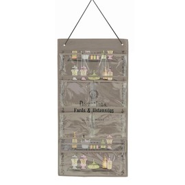 rangement organiseur multi poches mural d coctions suspendre gris taupe rose produits. Black Bedroom Furniture Sets. Home Design Ideas