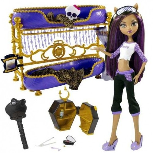 lit double pour poup e monster high poup e clawdeen wolf. Black Bedroom Furniture Sets. Home Design Ideas