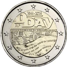 piece de monnaie 2 euros d'day