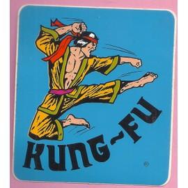 Rarisime- Autocollant-Sports Kung-Fu-