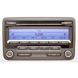 rcd 310 autoradio d 39 origine volkswagen 2009 radio double tuner lecteur cd affichage des. Black Bedroom Furniture Sets. Home Design Ideas