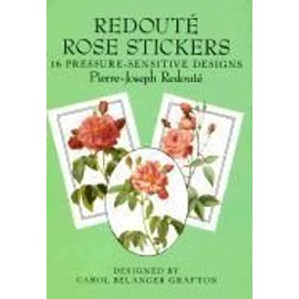 Redoute Rose Stickers: 16 Pressure-Sensitive Designs de Pierre Joseph Redout