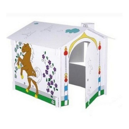 maison cabane carton a peindre ou a colorier pour enfant. Black Bedroom Furniture Sets. Home Design Ideas