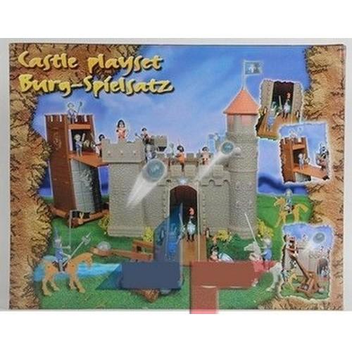 ref 68 jouet de 103 pieces pour enfant chateau fort jeu avec pont levis catapulte et chevalier. Black Bedroom Furniture Sets. Home Design Ideas