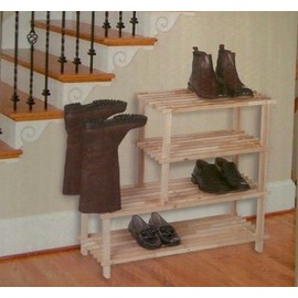 ref 81 grande etagere de rangement en bois support a chaussures et bottes armoire 4 etages. Black Bedroom Furniture Sets. Home Design Ideas