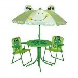 ref 90 ensemble de jardin enfant table 2 chaises parasol grenouille. Black Bedroom Furniture Sets. Home Design Ideas