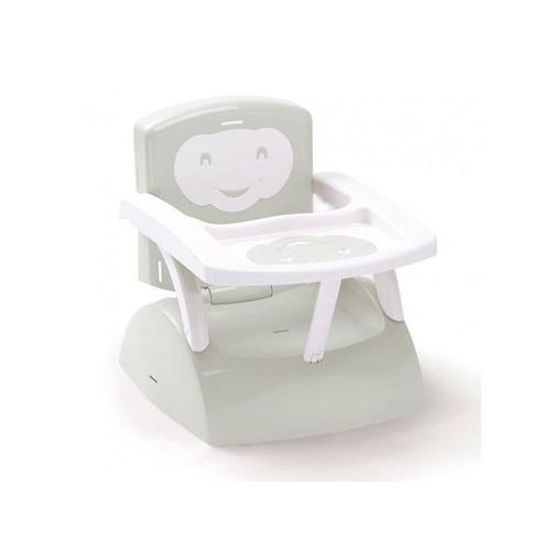 Rehausseur de chaise edgar avec marchepied gris pas cher - Rehausseur de chaise pour bebe ...